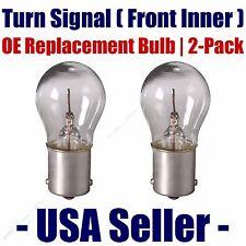 Front Inner Turn Signal/Blinker Light Bulb 2pk Fits Listed Subaru Vehicles 1156
