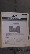 JVC pc-x2 xj service manual original repair book stereo tape boombox radio