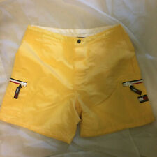 Tommy Hilfiger yellow shorts VINTAGE size M medium zipper pants oldschool womens