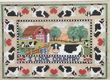 Dimensions I Love Country Counted Cross Stitch Kit Holstein Cow Barn Sampler
