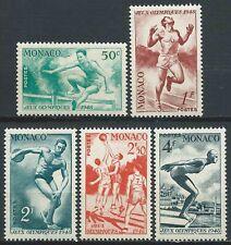 Monaco - 1948 - Jeux Olympiques de Londres  - N° 319 à 323  - Neufs** - MNH