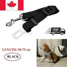2x Adjustable Dogs Car Seat Safety Harness Leash Vehicle Seat Belt for Pet Black
