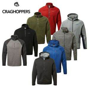 Craghoppers Mens Full Zip Half Zip Fleece Jacket Massive Clearance 80% OFF RRP