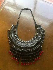 Tom Binns Massai Necklace with Red and Black Swarovski Crystals
