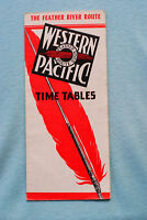 Western Pacific Time Table - 10/10/48