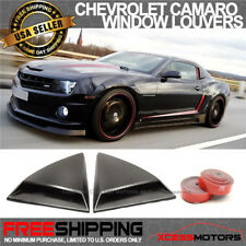 Fits 10-15 Chevrolet Camaro Rear Quarter Side Window Louvers Scoops 2Pcs