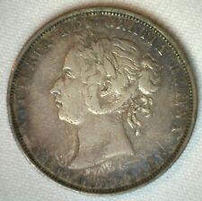 1882 H Canada Newfoundland 50 Cents Silver Coin Extra Fine Half Dollar XF 50c
