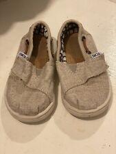 Toms Toddler Shoes Beige Size 6 Beige Slip On,
