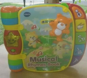 VTech 80166700 Musical Rhymes Educational Book for Babies