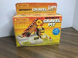 USED Matchbox  #1406 Motorcity Gravel Pit Playset 1985