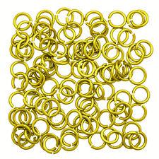 Aluminium 5mm Jump Ring 1.2mm Thick Yellow Bright Pack of 100 (P55/13)