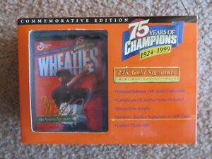 TIGER WOODS Mini Wheaties 1999 - 75 Years Champions 24K NEW IN PACKAGING