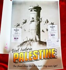 Banksy Palestine Poster The Walled Off Hotel With Receipt - STAMPED