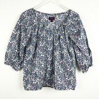 Liberty Art Fabrics for J.Crew Peasant Top June's Meadow Floral Blouse