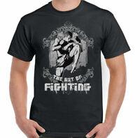 The Art Of Fighting Mens Martial Arts T-Shirt MMA Muay Thai Kick Boxing UFC Top