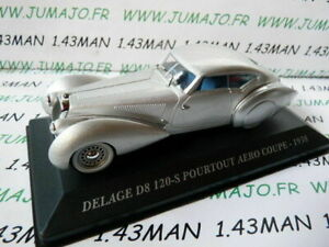 AUT19M 1/43 IXO altaya Voitures d'autrefois  DELAGE D8 120-S pourtout Aéro 1938