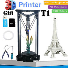 3D Printer Kossel Self-assembly DIY Kit Auto-Leveling with PLA Filament + 2G SD