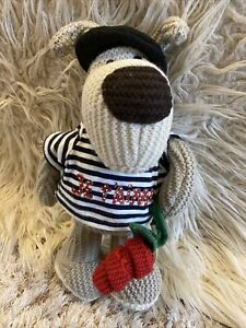 """Boofle French Je T'aime T-Shirt With Rose & Beret Soft Plush Toy 12"""""""