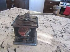 """Run Easy"" COFFEE MILL metal hand crank SIMMONS HARDWARE Grinder #300 Antique"