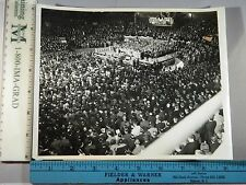 Rare Historical Original VTG 1937 Lt Gov Kennedy Chicago Steel Union Rally Photo