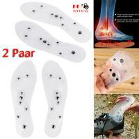 2 Paar Magnetische Orthopädische Einlegesohlen Massage Schuheinlagen Akupressur