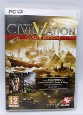 Sid Meier's Civilization V Gold Edition (Gods & Kings Expansion) DVD for Pc