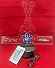 Toronto Maple Leafs NHL Hockey Light Up Lamp LED With Remote, Personalized Free