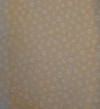 Beige on Beige Floral Small Pattern 1 yard Quilting Sewing Fabric