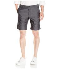 Kenneth Cole REACTION Men's Mini Stripe Short Shorts Gray Size 34 Flat Front NEW