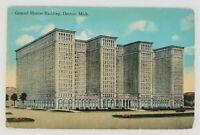 Postcard General Motors Building Detroit Michigan