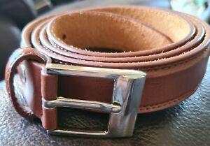 Mens Brown Leather Belt. Medium