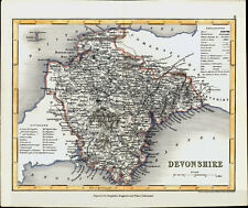 1846 Archer & Dugdale Antique Map of the English County of Devon