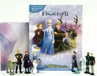 💎 Walt Disney's Frozen II (2) My Busy Book + 12 Character Figurines And Playmat