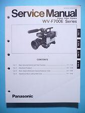 MANUAL DE Manual de servicio para Panasonic wv-f700e, original