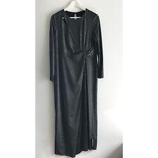 M&s collection effet métallique torsadée robe longue-Taille UK16/EUR44