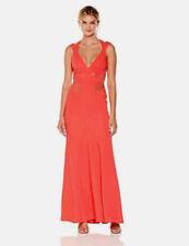 Women BCBG Max Azria Reese Lace-insert Satin Gown Sz 12 Ambrosia