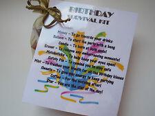 BIRTHDAY Survival Kit Novelty Gift Keepsake Fun Present