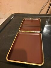 White Metal And Leather Cigar Case