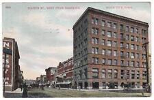 Sioux City Iowa postcard ~ Fourth Street West from Nebraska
