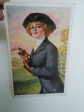 "RARE Vintage Postcard ""The Joy Of The Hunt"" William Haskell Coffin By R C Co NY"