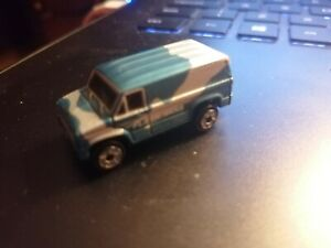 Micro Machines 70s Ford Custom Van Blue / Silver Micro Lights 1989 Galoob