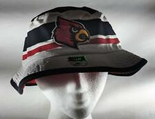 343374dcbe088 LZ Adidas Adult Small Med Louisville Cardinals NCAA Safari Bucket Hat Cap  NEW D1