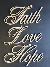 LASER CUT WALL ART - FAITH LOVE HOPE (DESIGN 3)