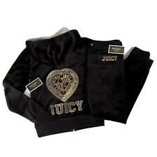 Authentic New Juicy Couture Black Tracksuit Cuffed Bottoms🖤