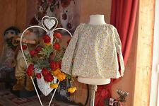 blouse bonpoint 18 mois liberty petites fleurs jaune blanche adorable