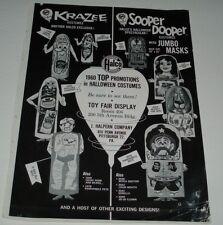 1960's Halco Halloween Costumes Ad w/ Heinz Pickle & Post Cereal Box
