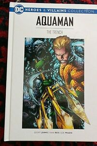 """DC HEROES & VILLAINS COLLECTION -No.11 AQUAMAN """"THE TRENCH"""" HARDBACK"""