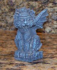 "Gargoyle With Lion Man's Head Miniature Halloween Cemetery Village Figurine 3"""