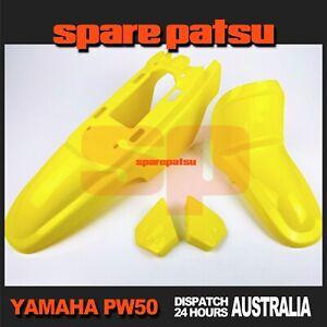 1985-2018 Yamaha PW50 Peewee 50 Yellow Plastics Fender Cover Set