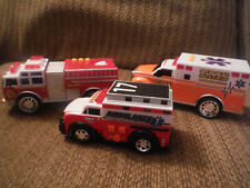 LOT of 3 Plastic Emergency EMS and Fire Truck